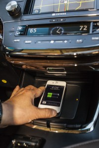 in-console Qi wireless charging